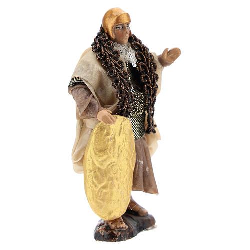 Neapolitan Nativity figurine, Warrior with shield 8cm 3