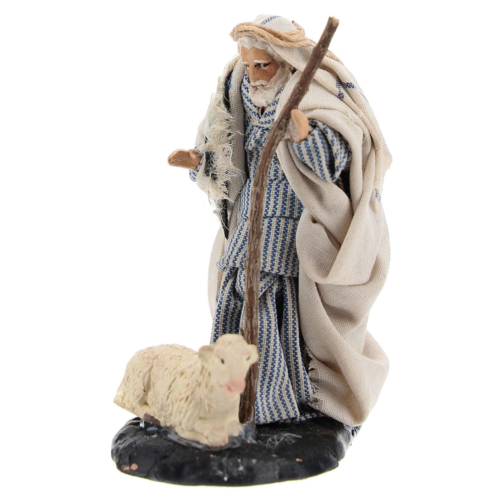 Viejo con oveja 8 cm. belén napolitano 4