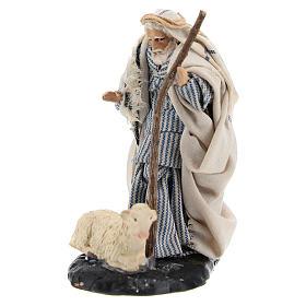 Neapolitan Nativity figurine, Old man with sheep 8cm s2