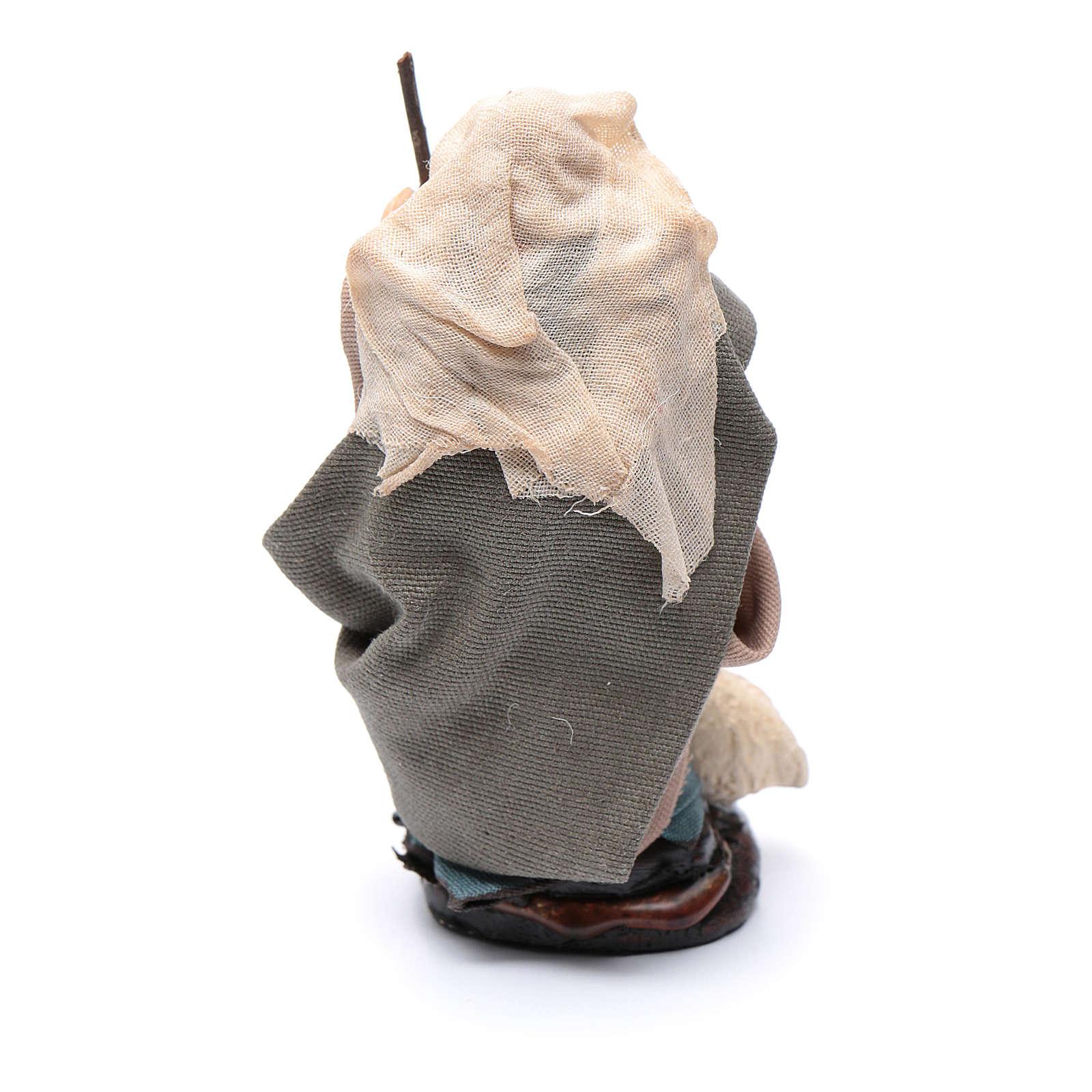 Anziana con pecora 8 cm presepe Napoli 4
