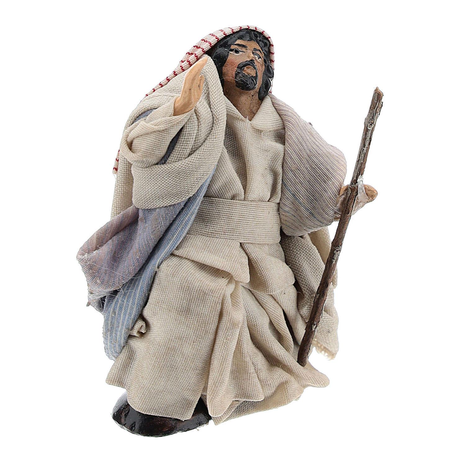 Arabo meravigliato 8 cm presepe napoletano 4