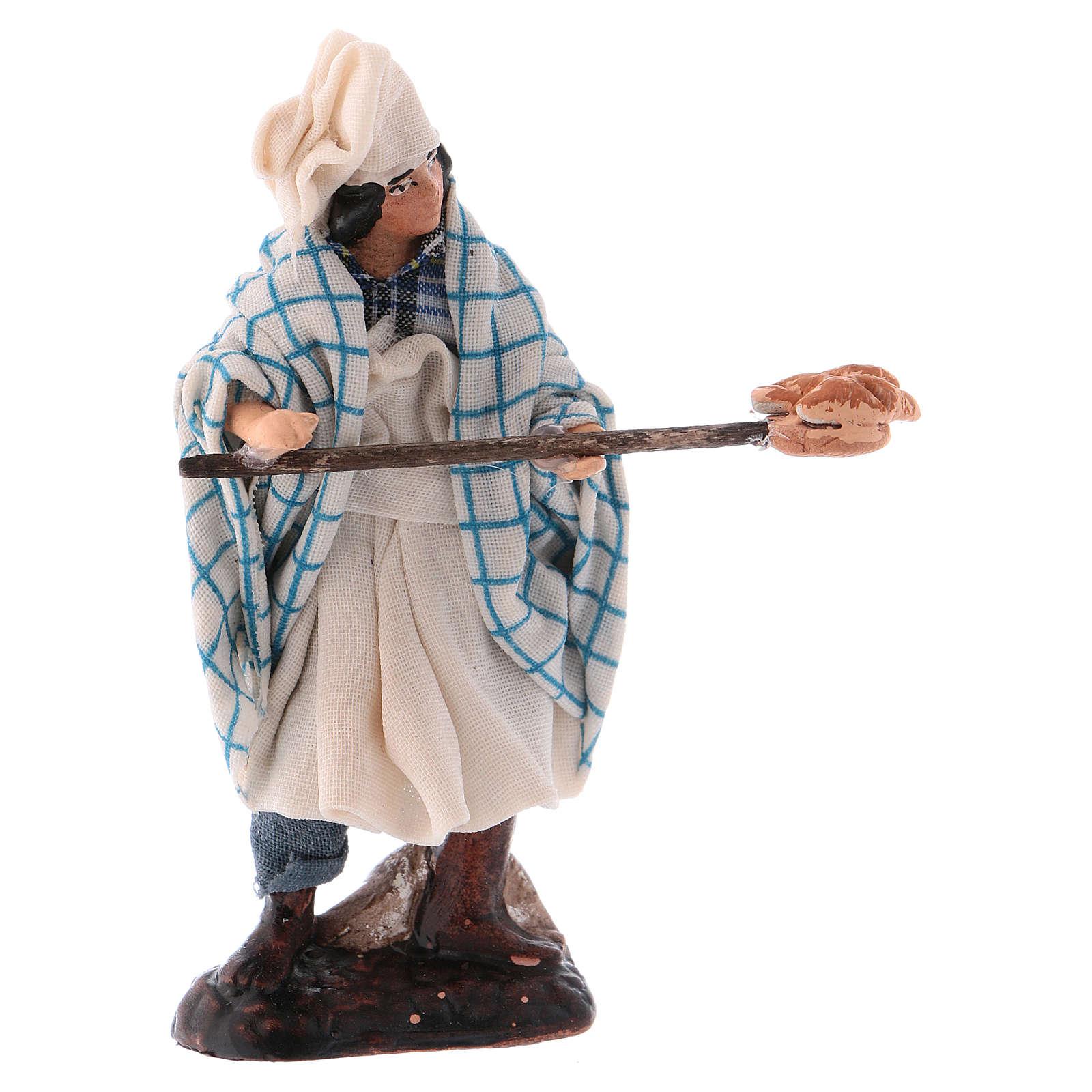 Neapolitan Nativity figurine, Pizza maker 8cm 4