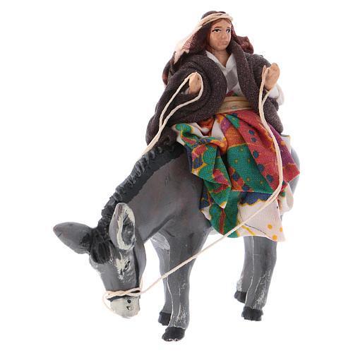 Mujer en burro 8 cm. belén napolitano 2