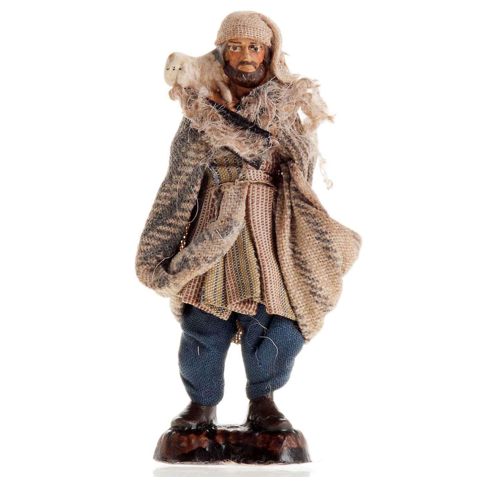 Neapolitan Nativity figurine, Shepherd 8cm 4
