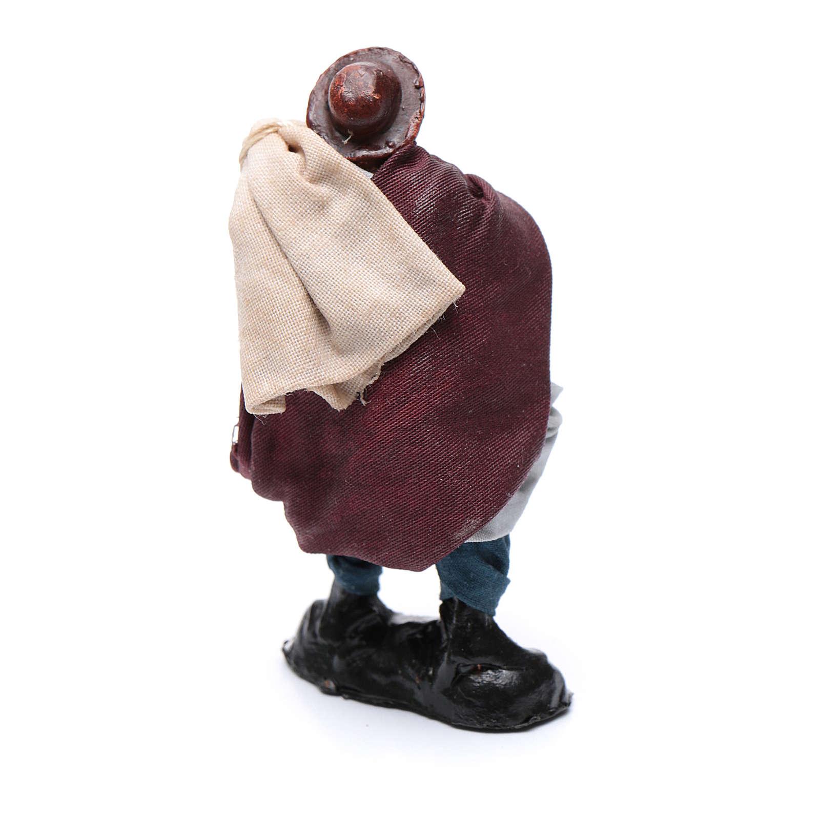 Santon crèche Napolitaine 8 cm homme avec sacs 4