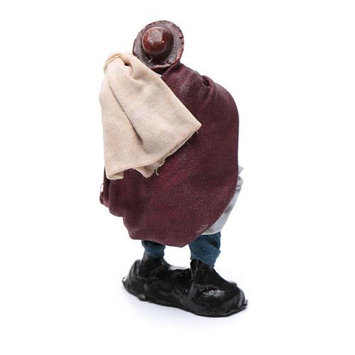 Santon crèche Napolitaine 8 cm homme avec sacs 2