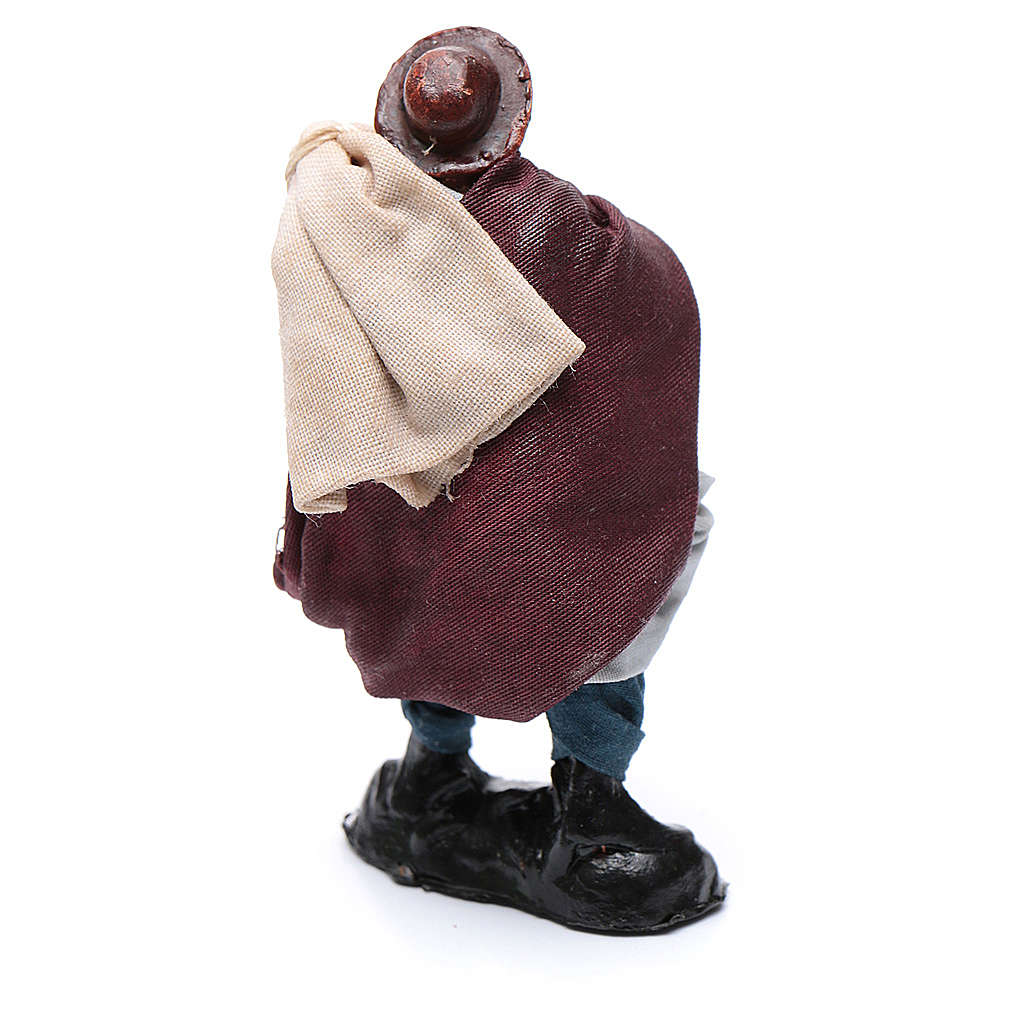 Uomo con sacchi 8 cm presepe Napoli 4