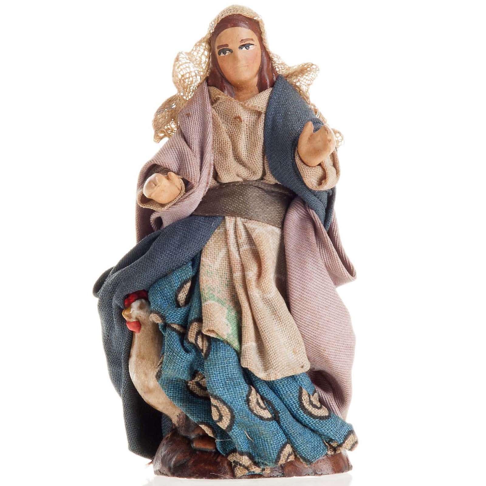 Neapolitan Nativity figurine, Female peasant 8cm 4
