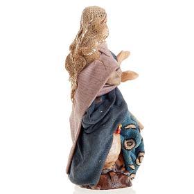 Neapolitan Nativity figurine, Female peasant 8cm s2
