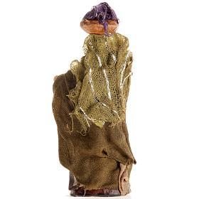 Mujer con cesto de ropa en la cabeza 8 cm. belén napolita s2
