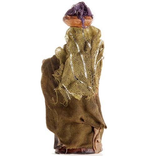 Mujer con cesto de ropa en la cabeza 8 cm. belén napolita 2