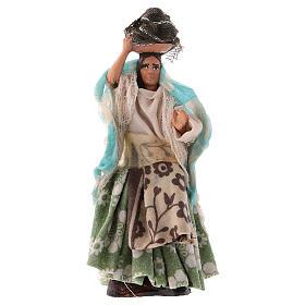 Donna con panni in testa 8 cm presepe Napoli s1