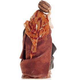 Neapolitan Nativity figurine, Woman with barrel 8cm s2