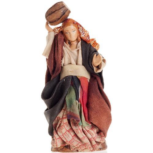 Neapolitan Nativity figurine, Woman with barrel 8cm 1
