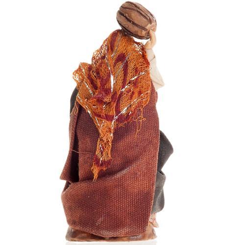 Neapolitan Nativity figurine, Woman with barrel 8cm 2