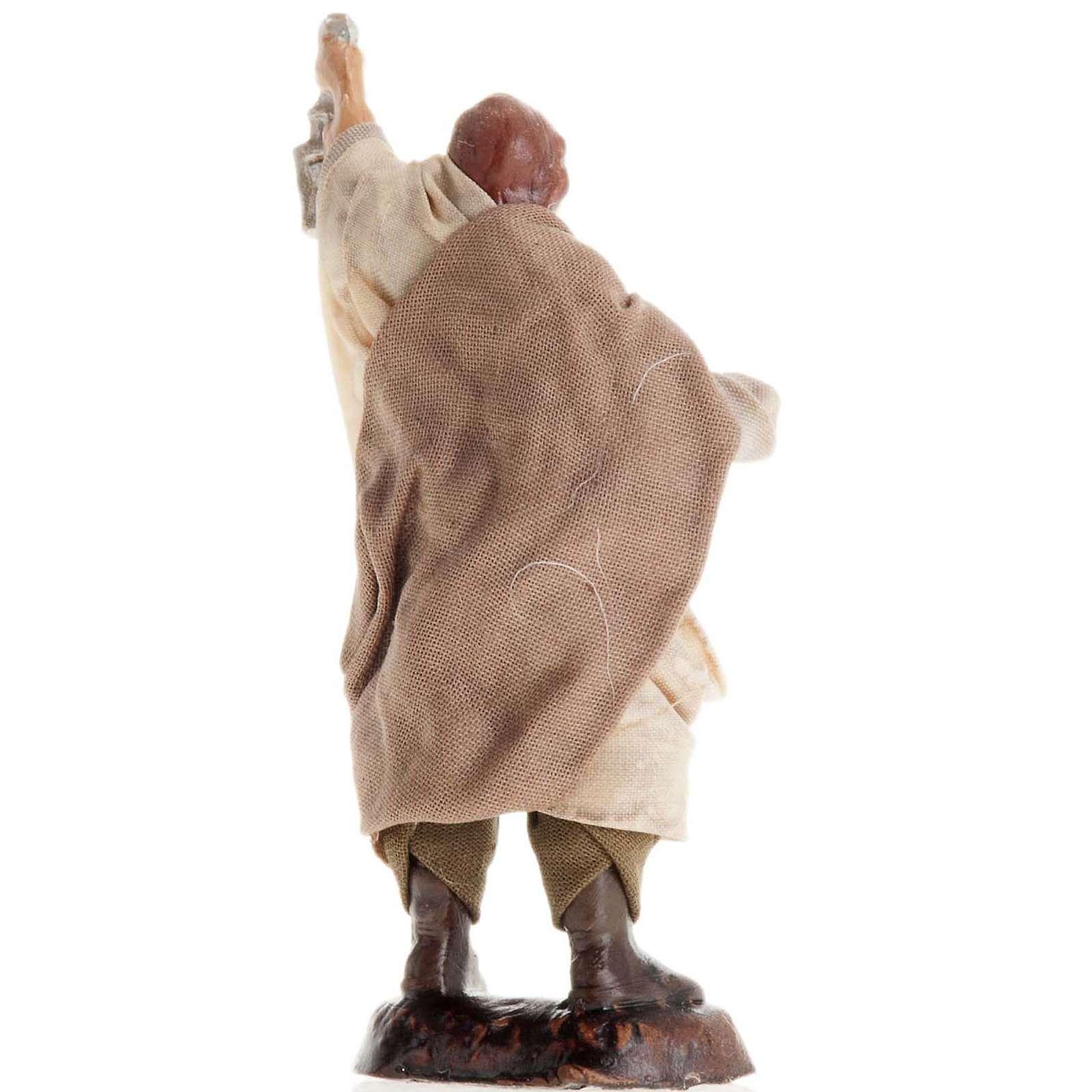 Neapolitan Nativity figurine, Man with lantern 8cm 4