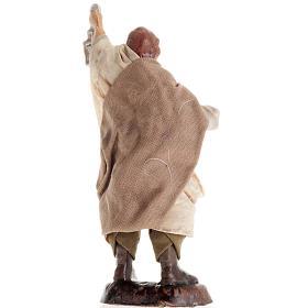 Neapolitan Nativity figurine, Man with lantern 8cm s2