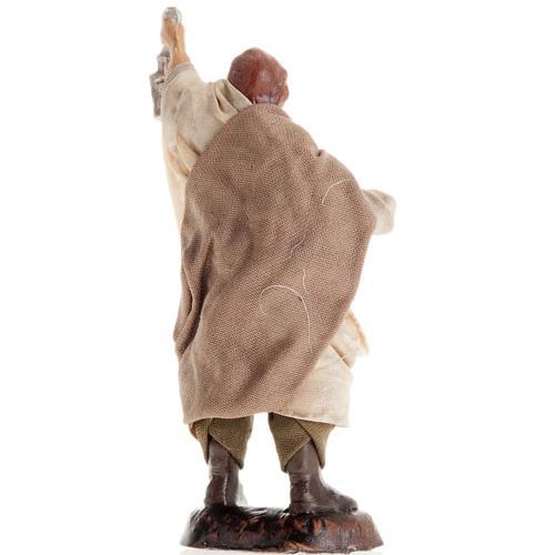 Neapolitan Nativity figurine, Man with lantern 8cm 2