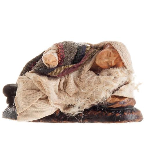 Neapolitan Nativity figurine, Sleeping man 8cm 1