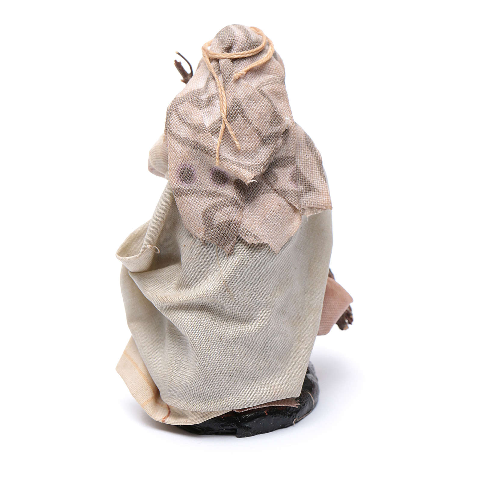 Neapolitan Nativity figurine, Old woman with broom 8cm 4