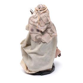 Neapolitan Nativity figurine, Old woman with broom 8cm s2