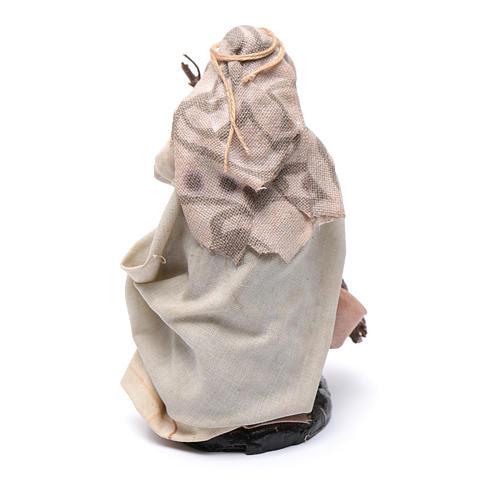 Neapolitan Nativity figurine, Old woman with broom 8cm 2