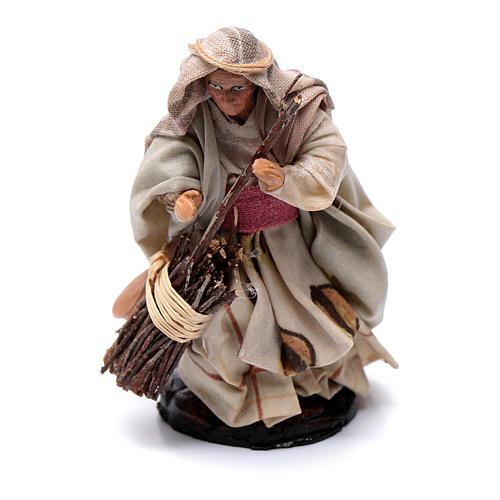 Crèche Napolitaine 8 cm femme âgée avec bala 1