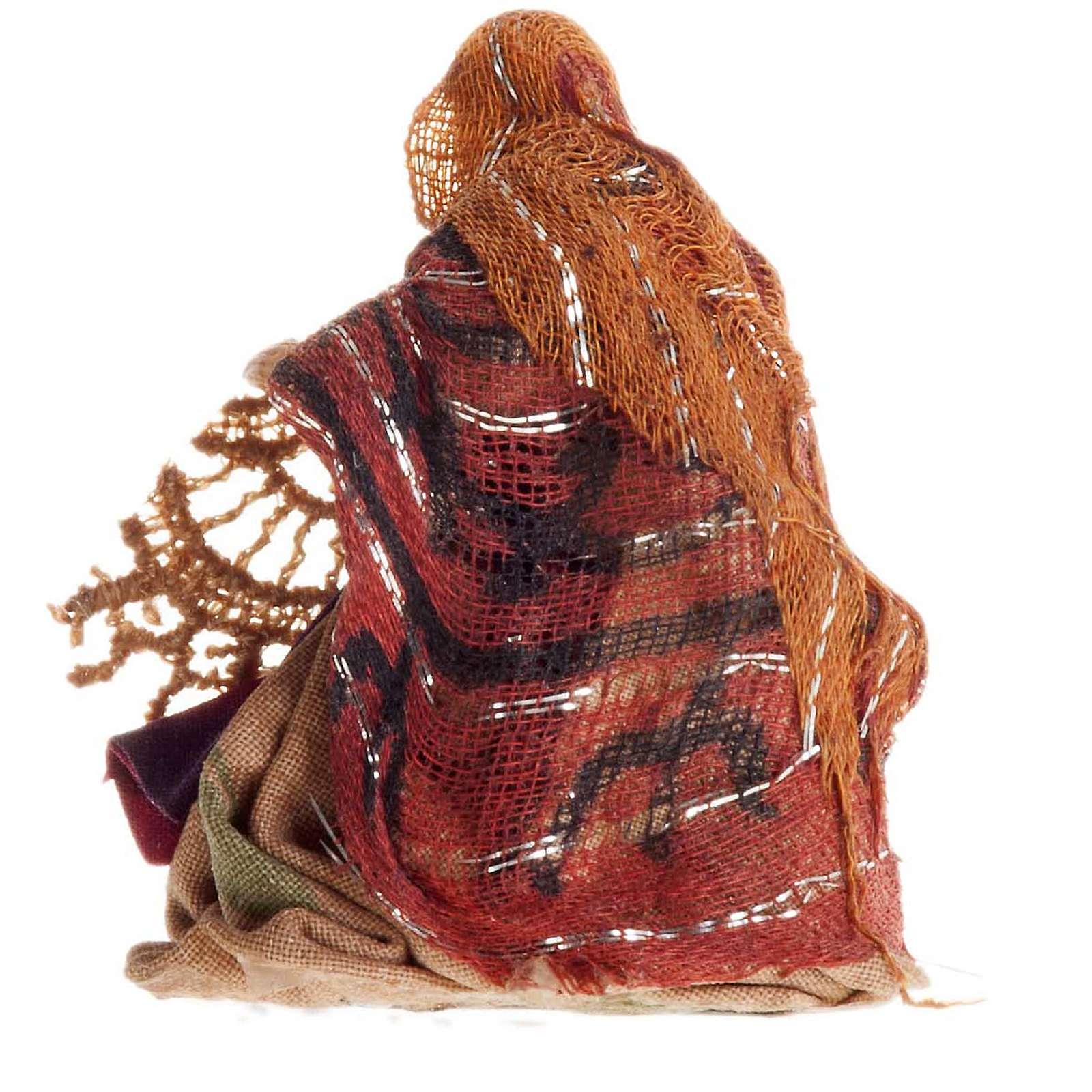 Crèche Napolitaine 8 cm femme qui file 4