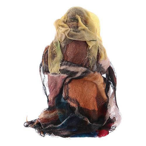Donna che fila 8 cm presepe napoletano 2