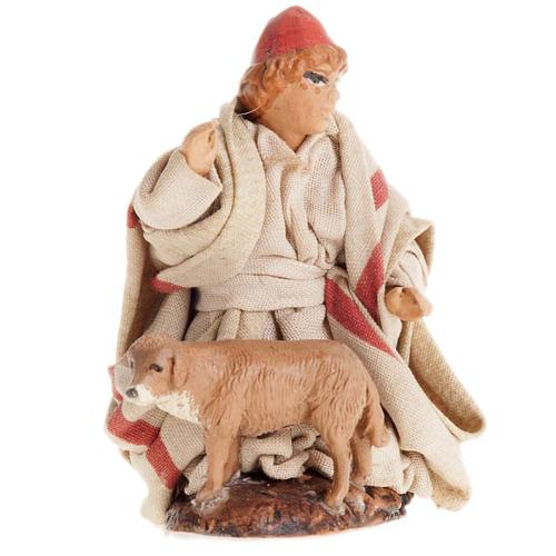 Neapolitan Nativity figurine, Child with dog 8cm 1