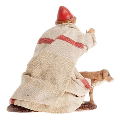 Neapolitan Nativity figurine, Child with dog 8cm 2