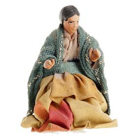 Neapolitan Nativity Scene: Neapolitan Nativity figurine, Sitting woman 8cm