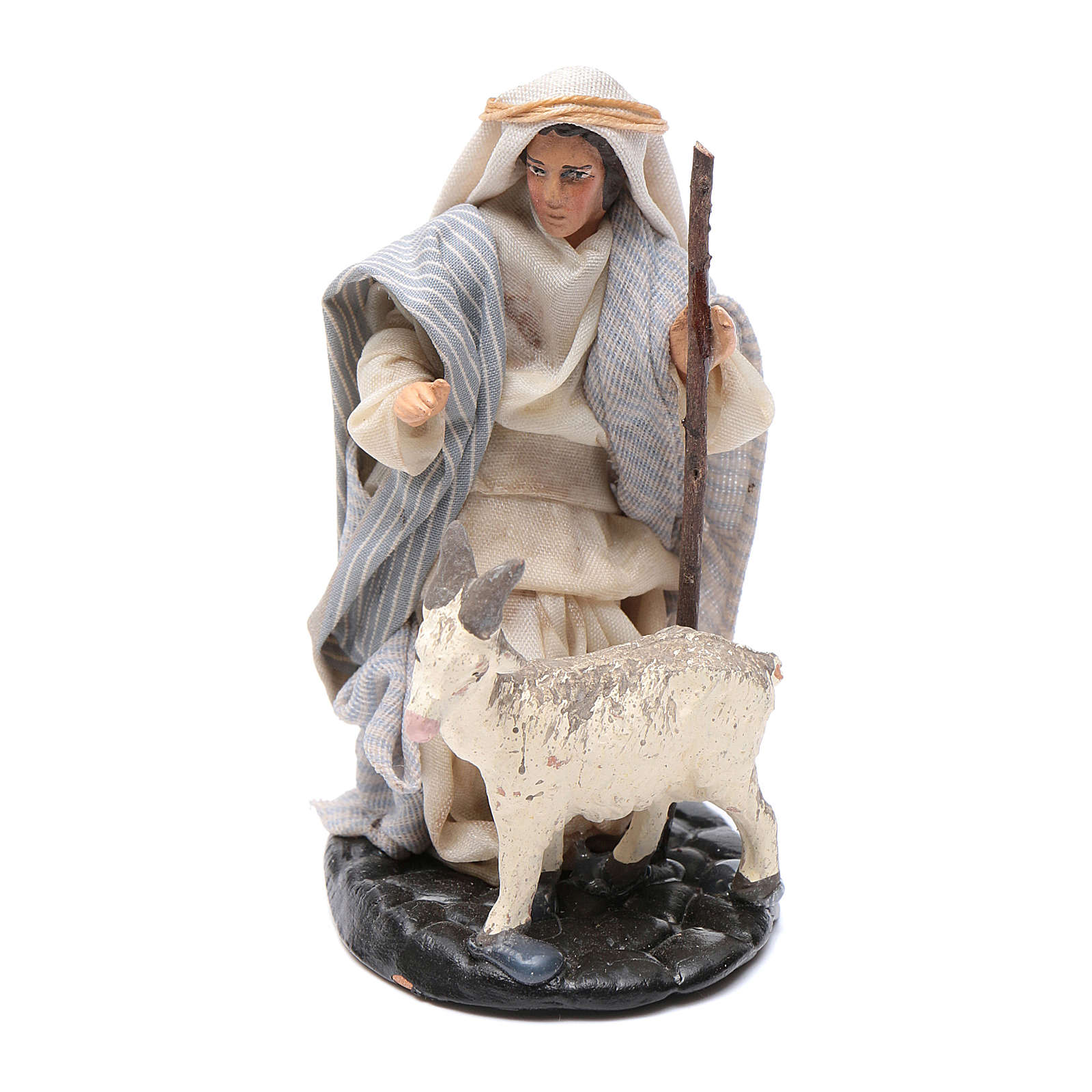 Neapolitan Nativity figurine, Man with goat 8cm 4