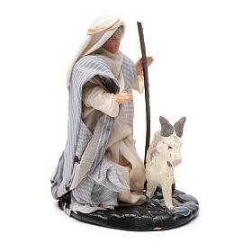 Neapolitan Nativity figurine, Man with goat 8cm s2
