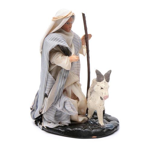 Neapolitan Nativity figurine, Man with goat 8cm 2