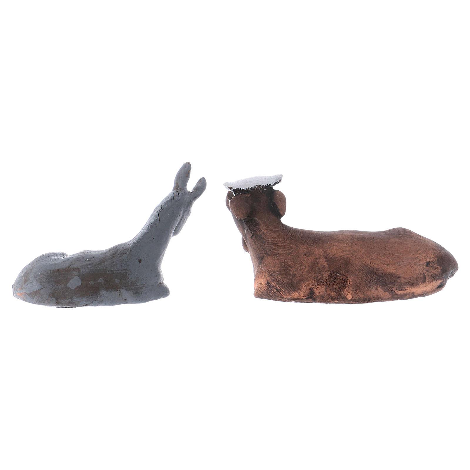 Buey y burro 8 cm. belén napolitano 4