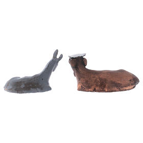 Buey y burro 8 cm. belén napolitano s4