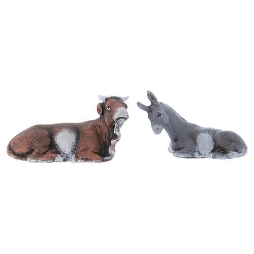 Buey y burro 8 cm. belén napolitano 1