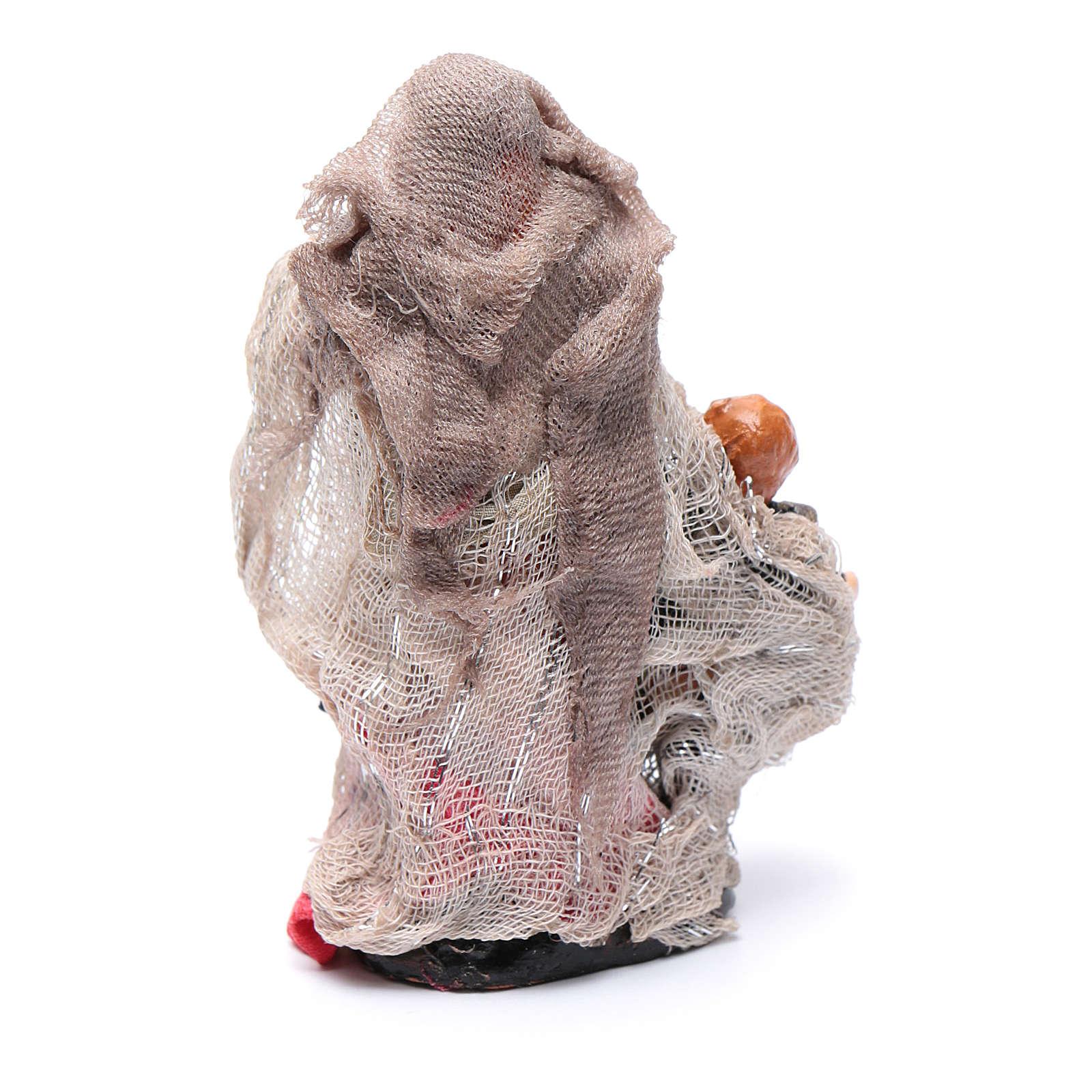 Mujer con niño 8 cm. belén napolitano 4