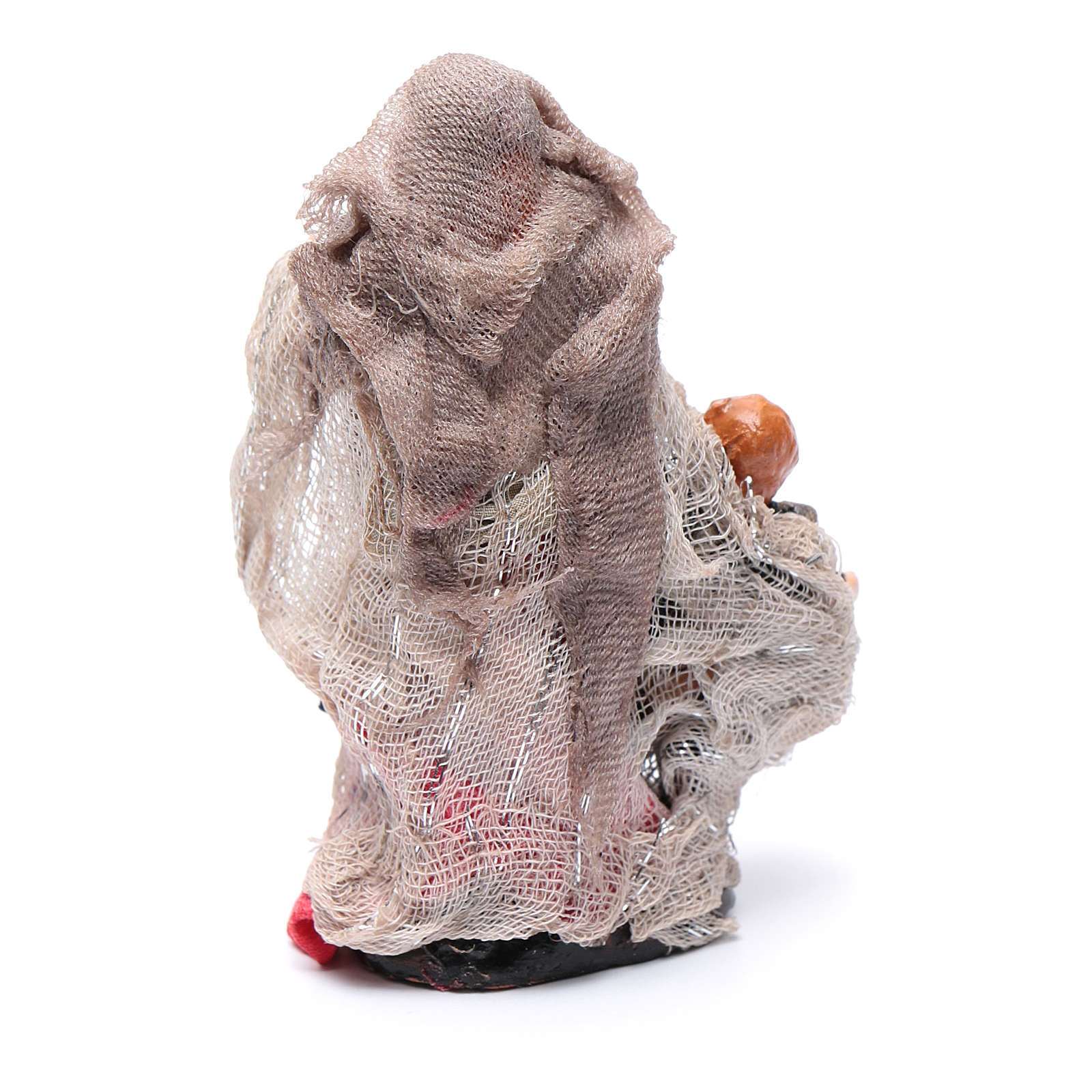 Donna con bimbo in mano 8 cm presepe Napoli 4