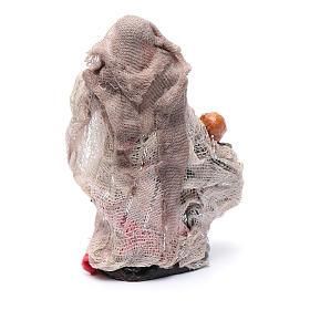 Donna con bimbo in mano 8 cm presepe Napoli s2