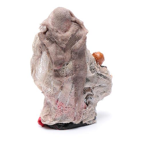 Donna con bimbo in mano 8 cm presepe Napoli 2