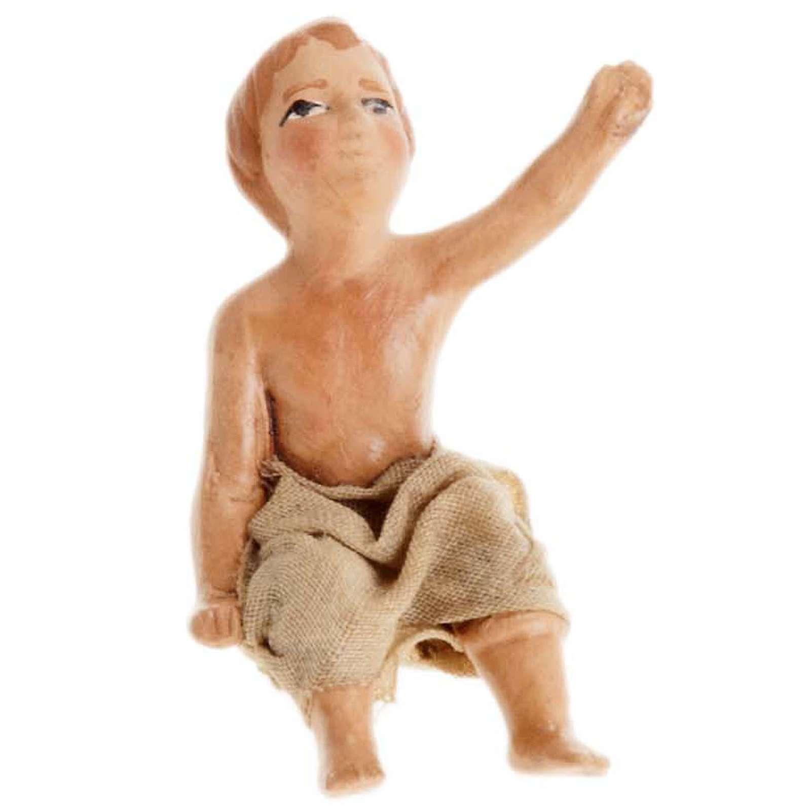 Neapolitan Nativity figurine, Sitting child 8cm 4