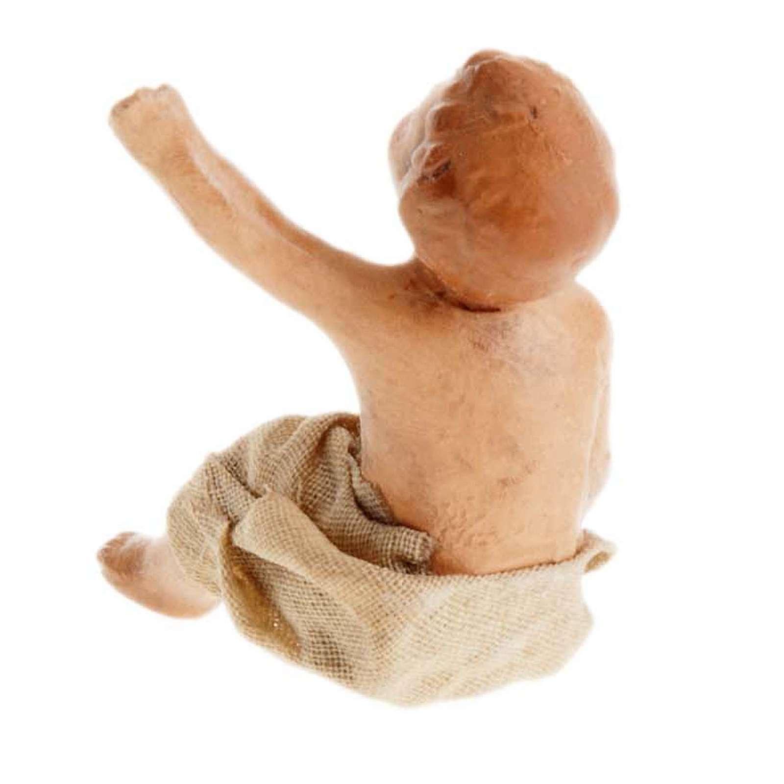 Crèche Napolitaine 8 cm enfant assis 4