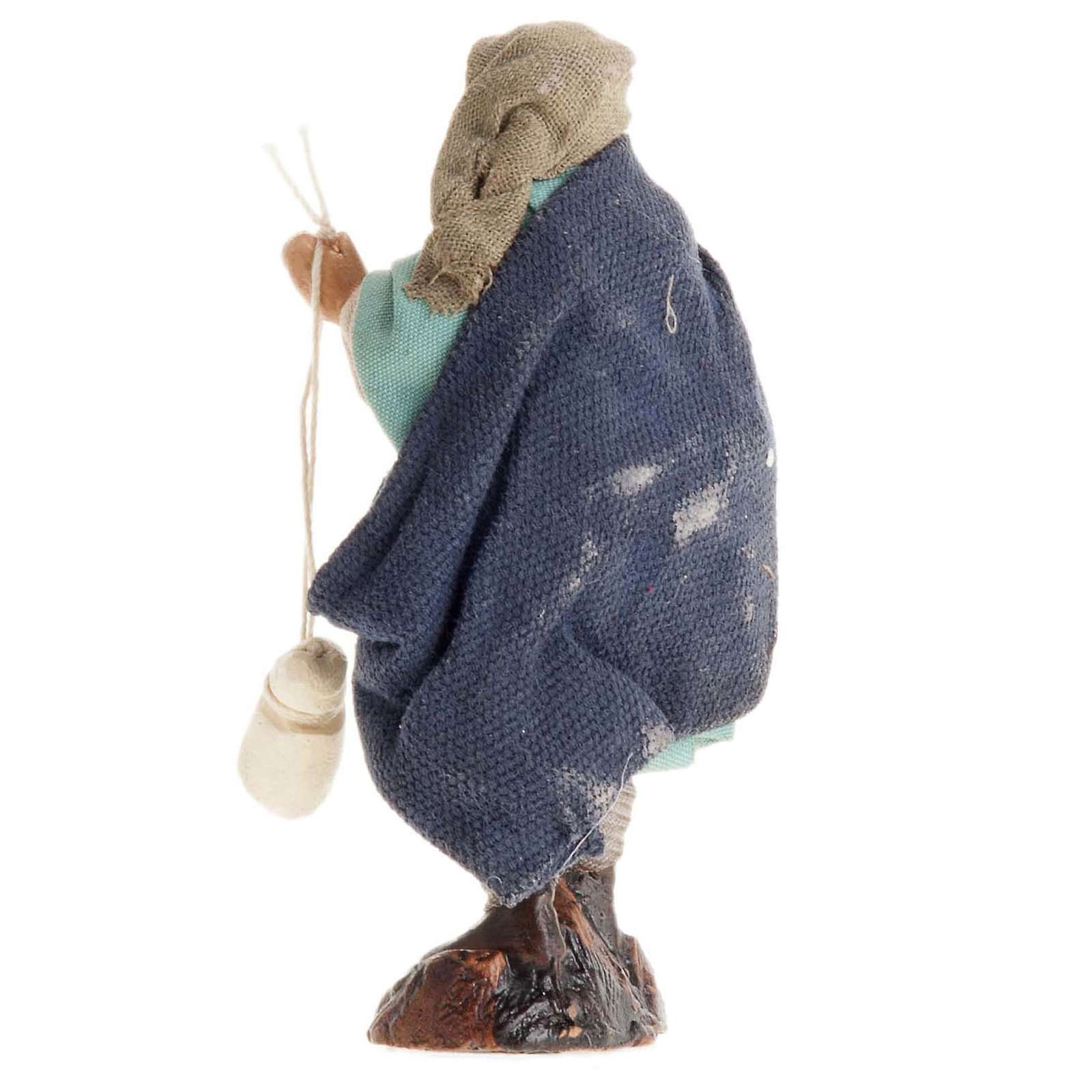 Neapolitan Nativity figurine, Man with cheese 8cm 4