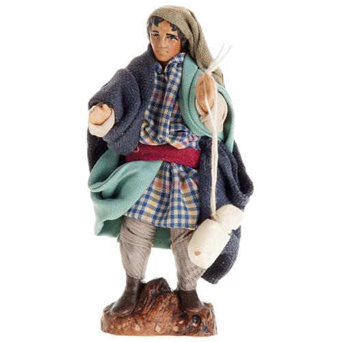 Neapolitan Nativity figurine, Man with cheese 8cm 1