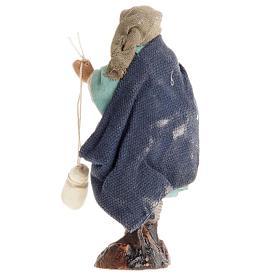 Crèche Napolitaine 8 cm homme avec caciotta s2