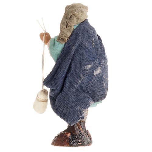 Neapolitan Nativity figurine, Man with cheese 8cm 2