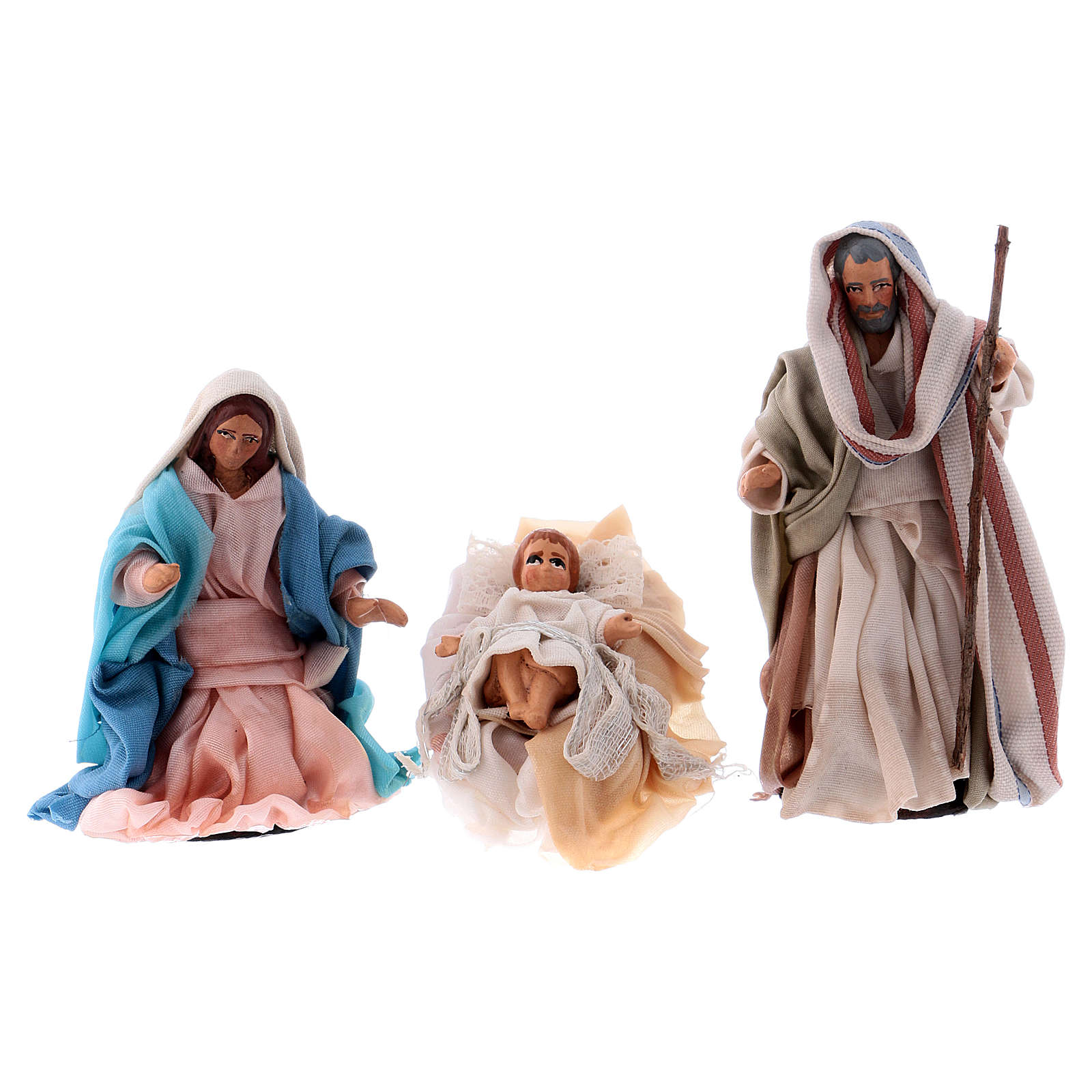 Neapolitan Nativity set, Holy family 8cm 4