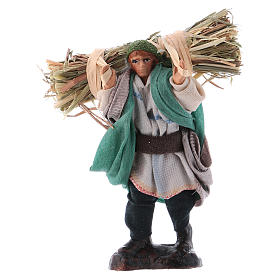 Neapolitan Nativity Scene: Neapolitan Nativity figurine, Peasant with straw 8cm